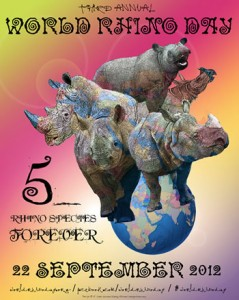 World Rhino Day 2012 poster at 350 px (copyright Annamiticus/Saving Rhinos)
