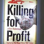 "Julian Rademeyer revealed the cover and title of his upcoming book, ""Killing for Profit"" on World Rhino Day. Photo courtesy of Julian Rademeyer."