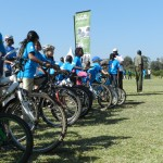 The Ol Pejeta Conservancy in Kenya partnered with Laikipia Wildlife Forum host a World Rhino Day cycling event to raise awareness in Laikipia.