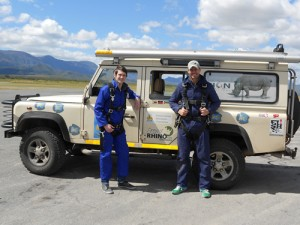 Rhino Africa joined up with the Skydive for Rhinos fundraiser for a special World Rhino Day jump. Photo courtesy of Rhino Africa.