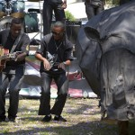 Crowds gathered in Harare, Zimbabwe, for musical entertainment and a parade, where they marched from Town House to Africa Union Square. Photo courtesy of Tikki Hywood Trust.