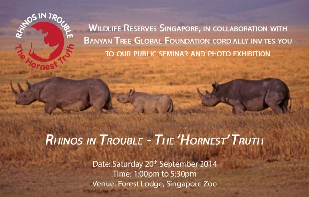 Celebrate World Rhino Day in Singapore: Rhinos in Trouble - 'The Hornest Truth'