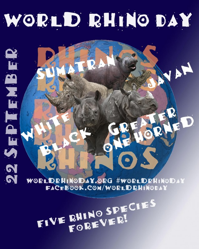 World Rhino Day is 22 September: 5 Rhino Species Forever!