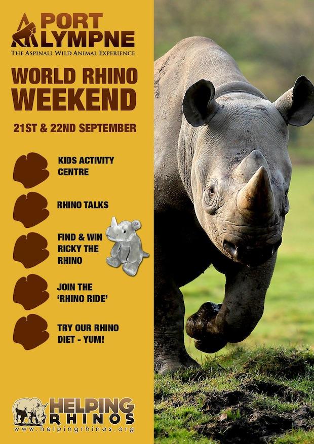 Port Lympne Wildlife Park in Kent, home to 15 (!) black rhinos.