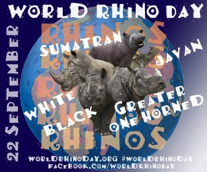 World Rhino Day is celebrated on 22 September.