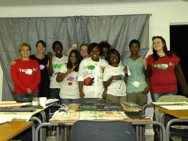 """Paint-a-thon"" at Greenwhich College in Johannesburg."