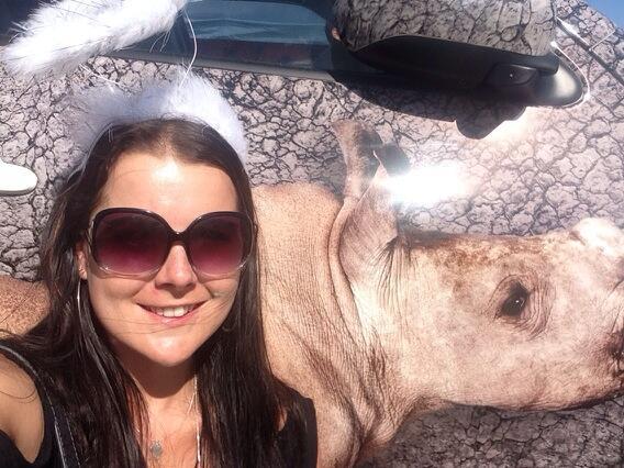 via selfie for rhino press release