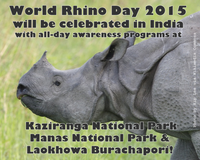 Celebrate World Rhino Day in India - home of the greater one-horned rhino!