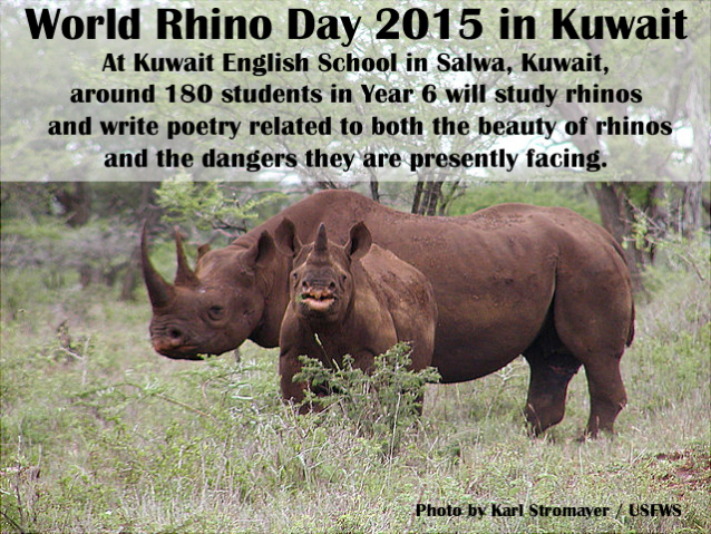 World Rhino Day 2015 Kuwait